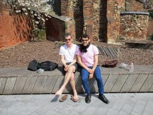 Der Organisator der Konferenz, Robert Chapman (links), und Philip D. Kupferschmidt. (Mit freundlicher Genehmigung des letztgenannten.)