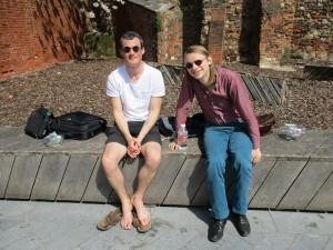 Der Organisator der Konferenz, Robert Chapman (links), und ich. (Mit freundlicher Genehmigung von Philip D. Kupferschmidt.)